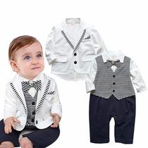 Terno Smoking Bebê Macacão Roupa Infantil Masculino Social