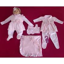 Kit Saída Maternidade Menina Sonho De Nenê Rosa