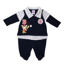 Macacão Bear Baby Marinho - Tip Top