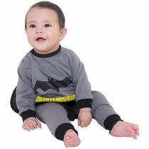 Fantasia Macacão Batman Para Criança E Bebe (tamanho P M G)