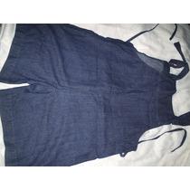 Macacao Jeans Shorts Tamanho 44