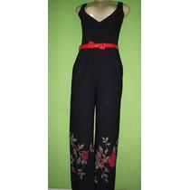 Macacao Pantalona Estampa Floral Tamanho 42