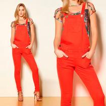 Macacão Jardineira Jeans Color Verão 2015