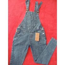 Macacão Jardineira Comprido Jeans