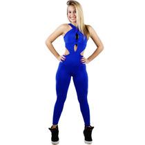 Macacão Feminino Suplex Fitness Trançado -academia-ginastica