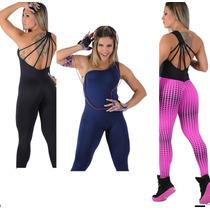 Macacão Feminino Fitness Suplex-diva -academia -ginastica
