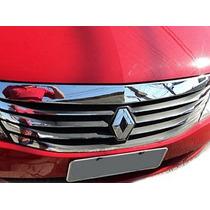 Kit Aplique Cromado Resinado Para Grade Renault Logan 2011/