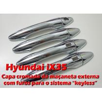 Capa Cromada Para Maçaneta Hyundai Ix35