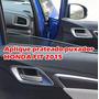Aro Prateado Fosco Para A Maçaneta Interna Do Honda Fit 2015