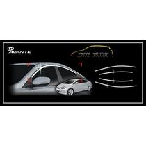 Friso Superior Do Vidro Lateral Cromado Para Hyundai Elantra