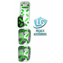 Pedaleira De Aluminio Automotiva Iluminadas Led Verde