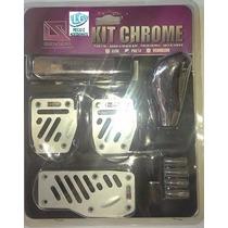 Kit Chrome Preto -manopla/pedaleira/bola De Cambio/pino....