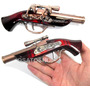 Isqueiro Maçarico Formado Arma Garrucha Pistola Recarregável