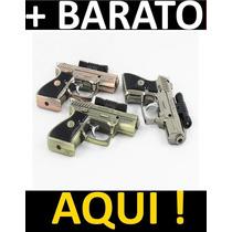 Isqueiro Tipo Pistola Com Laser / Gás Butano 2 Chamas