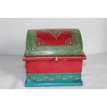 Porta-jóias, Arte Étnica Hindú, Pintura Manual Alto Relêvo.
