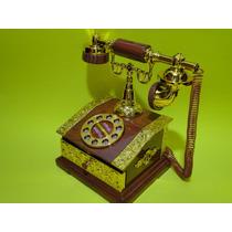 Caixa Musica Porta Joias Formato Telefone Antigo 20cm