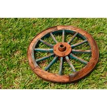 Roda Carroça Antiga 62cm Otimo Estado