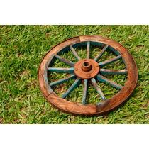Roda Carroça Antiga 70cm Otimo Estado