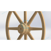 Roda De Carroça 80cm Com Brinde *oferta
