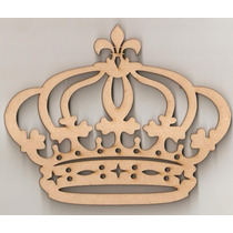 Coroa Princesa Flor De Liz 75cm + Nome 50cm Com Base Mdf