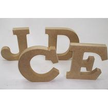 Letras Do Alfabeto Diversas 20cm Mdf 25mm - 12 Peças