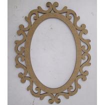 Moldura Espelho Oval Arabesco 58cm Mdf