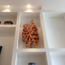 Escultura De Madeira Rústica Maciça - Tronco - Guarantã