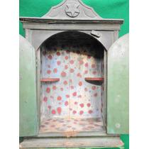 Oratório Madeira Com Policromia Vale Do Paraíba Antigo