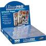 100 Folhas De Fichario Ultra Pro Silver 9 Bolsos Original!!