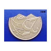 Moeda Mordida 25 Centavos Dourada+ Frete 10 Reais