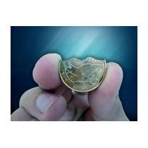 Moeda Mordida De R$ 0,25 - Bite Coin (dourada) - Mágica