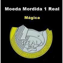 Moeda Mordida De R$ 1 Real - Bite Coin - Mágica