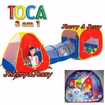 Barraca Infantil Toca Infantil 3 Em 1 Com Tunel