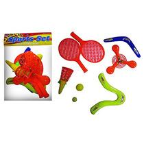 Kit Brinquedo C/raquete+ Boomerang Sport Set