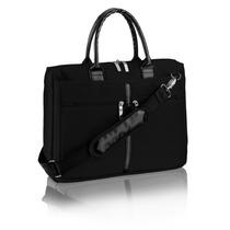 Bolsa,maleta Feminina Notebook Até 14 Ella Preta C/alça Cz