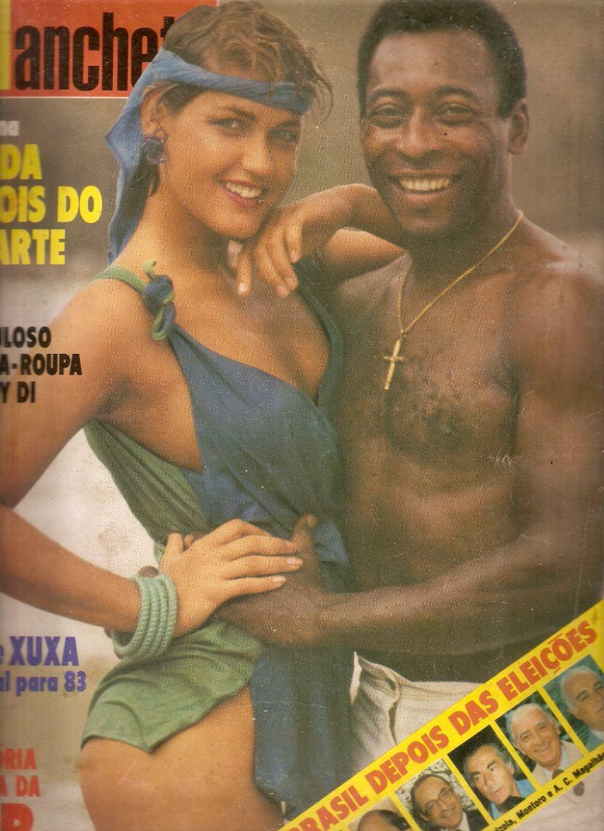 manchete n  186  1598 - 1982 xuxa e pel  233  - rock brasil anos 80Xuxa Pele