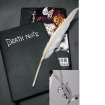 Kit Caderno Death Note + Caneta Pena + Cd+colar Frete Gratis