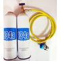 Carga De Gás R134a Gás Refrigerante 134 + Engate + Mangueira