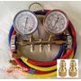 Manifold Refrigeração R22, R407c E R410a + Adaptadores R410a