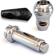Kit Cromo Manopla Aluminio Gol Parati Saveiro Voyage +brinde