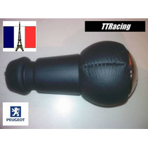Manopla Original Couro Peugeot 307 206 207 France Couro 1183