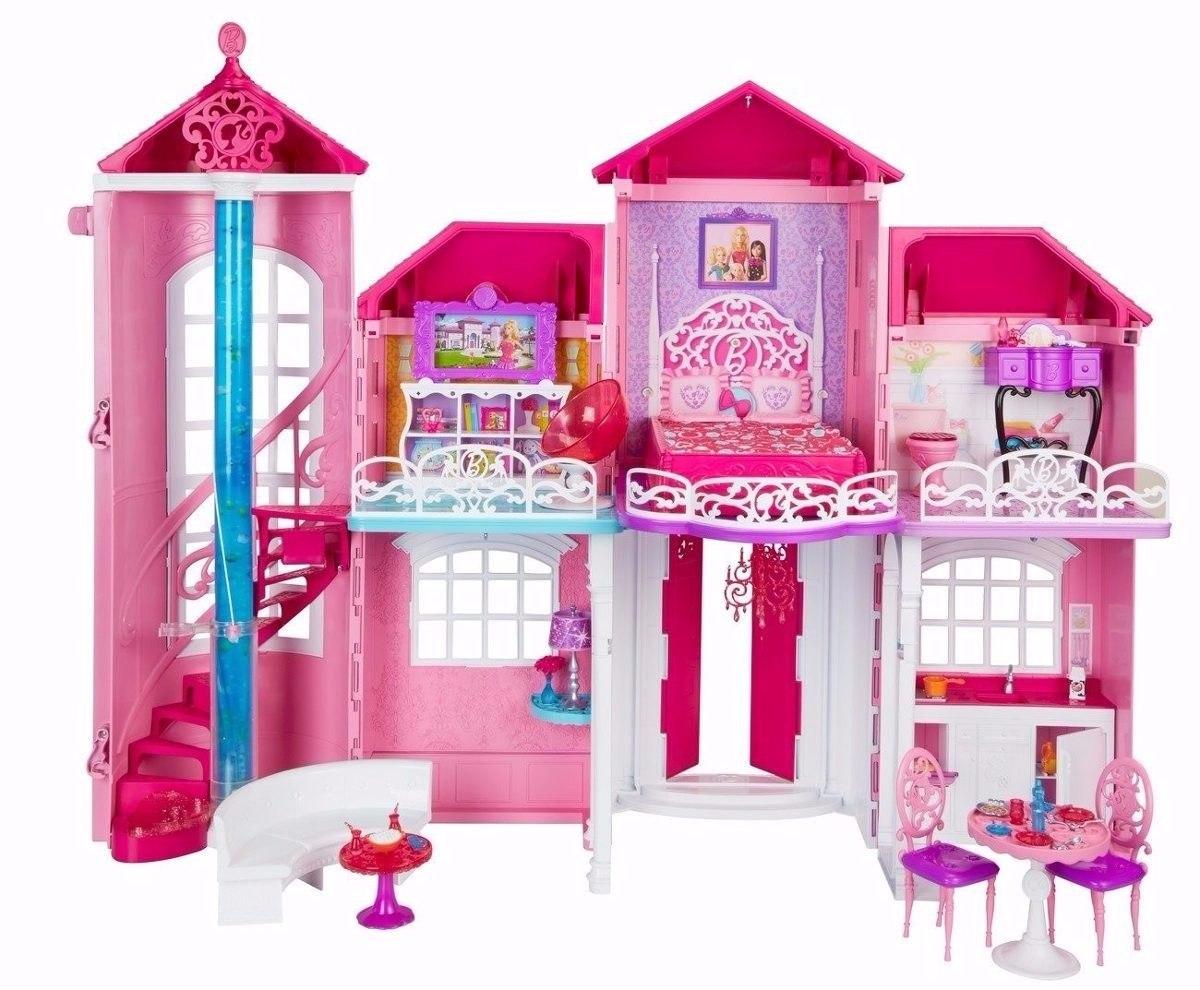 Casa Da Babie De 3 Andares Com Uma Barbie Original Mattel Vem Com Uma  #BF0848 1200x990 Banheiro Da Barbie Mercadolivre