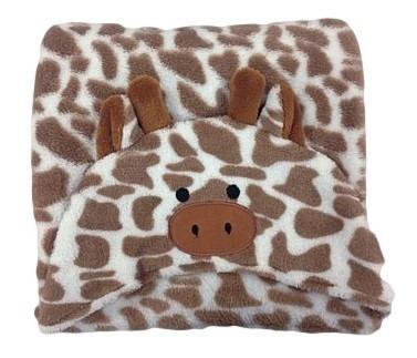 Manta Microfibra Infantil Com Capuz Buettner Girafa