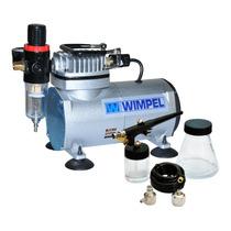 Compressor Aerógrafo 110/220v C/ Filtro De Ar + Kit Completo
