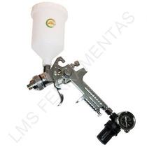 Pistola Aerógrafo De Gravidade Hvlp Bico 1,4mm Sh C/15 Furos