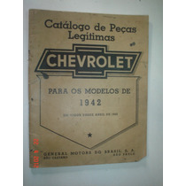Raro Catalogo Peças Chevrolet 1942 Original Gm Manual Master