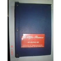 Catalogo Peças Alfa Romeo 2300b Ti Original Fiat Fnm Manual