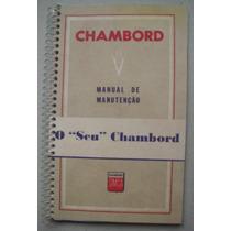 Manual Do Proprietário Simca Chambord 1959 - Frete Grátis -
