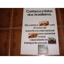 Folder Caminhao Volvo N10 E Onibus B58 Lançamento
