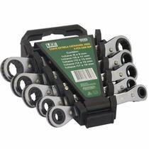 Jogo Chave Estrela Catracada Reversível 5 Pcs De 8 A 19mm